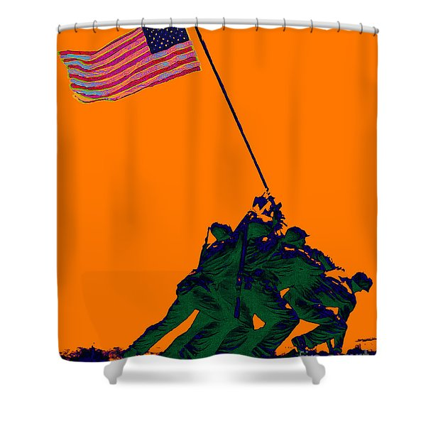 Iwo Jima 20130210p88 Shower Curtain by Wingsdomain Art and Photography