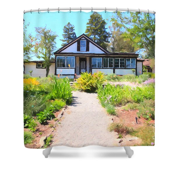 Jack London Countryside Cottage And Garden 5d24565 Shower Curtain by Wingsdomain Art and Photography