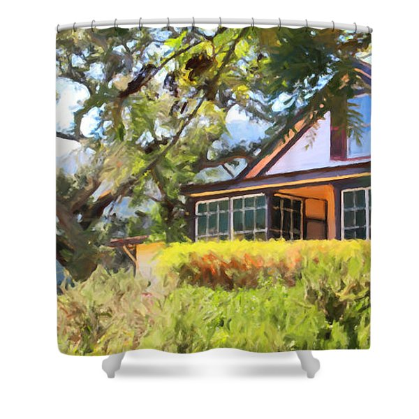 Jack London Countryside Cottage And Garden 5d24570 Long Shower Curtain by Wingsdomain Art and Photography