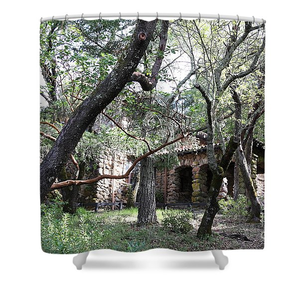 Jack London House of Happy Walls 5D21961 Shower Curtain by Wingsdomain Art and Photography