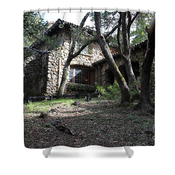 Jack London House of Happy Walls 5D21962 Shower Curtain by Wingsdomain Art and Photography