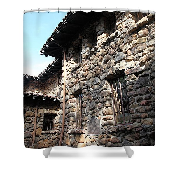 Jack London House of Happy Walls 5D21967 Shower Curtain by Wingsdomain Art and Photography
