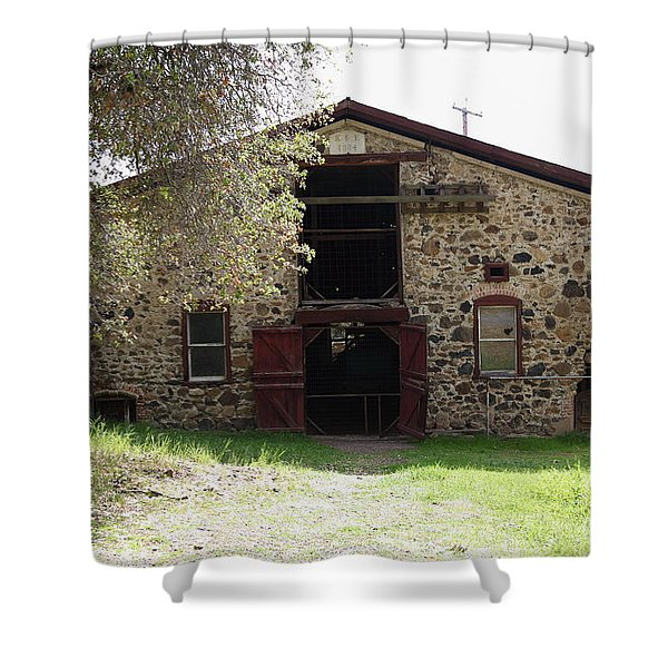 Jack London Sherry Barn 5D22070 Shower Curtain by Wingsdomain Art and Photography