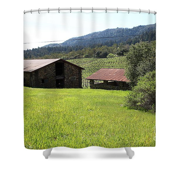 Jack London Stallion Barn 5D22058 Shower Curtain by Wingsdomain Art and Photography
