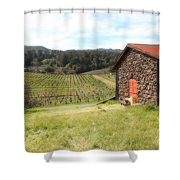 Jack London Stallion Barn 5D22106 Shower Curtain by Wingsdomain Art and Photography