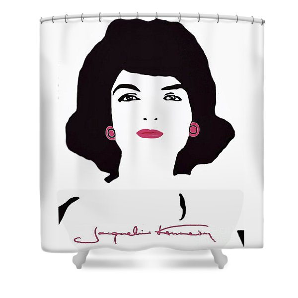Jackie Kennedy Signature Pink Lips Shower Curtain by Jost Houk