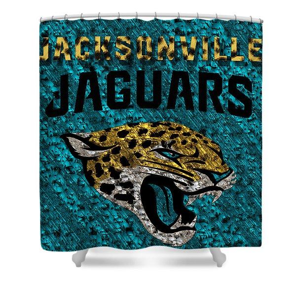 Jacksonville Jaguars Shower Curtain by Jack Zulli