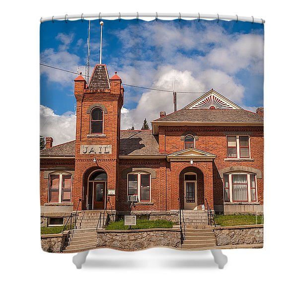 Jail Built In 1896 Shower Curtain by Sue Smith