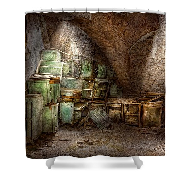 Jail - Eastern State Penitentiary - Cabinet members  Shower Curtain by Mike Savad