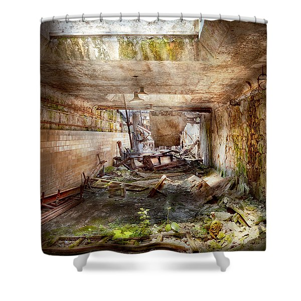 Jail - Eastern State Penitentiary - The mess hall  Shower Curtain by Mike Savad