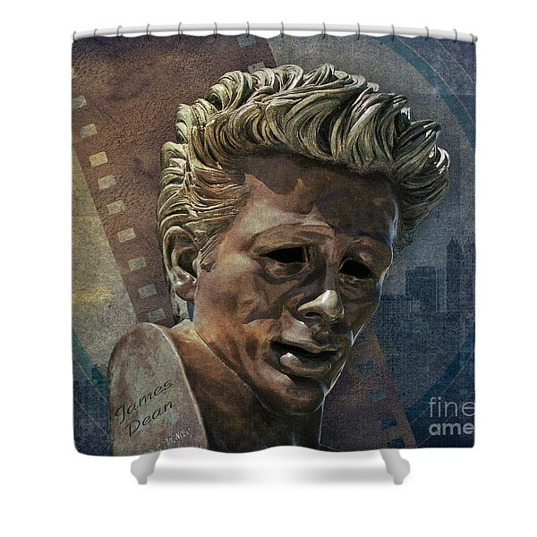 James Dean Shower Curtain by Bedros Awak