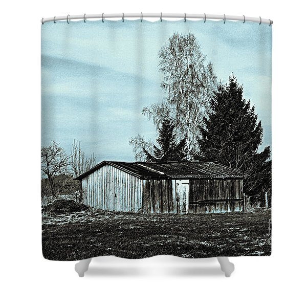 January Sadness Shower Curtain by Jutta Maria Pusl