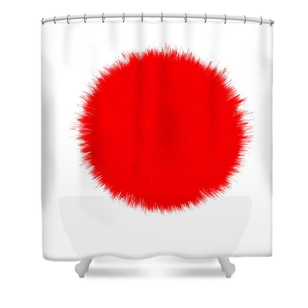 JAPAN FLAG Shower Curtain by Daniel Hagerman