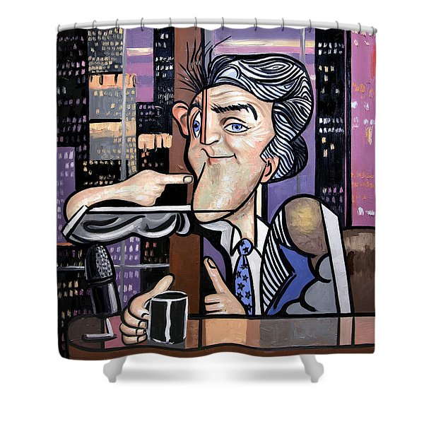 Jay Leno You Been Cubed Shower Curtain by Anthony Falbo