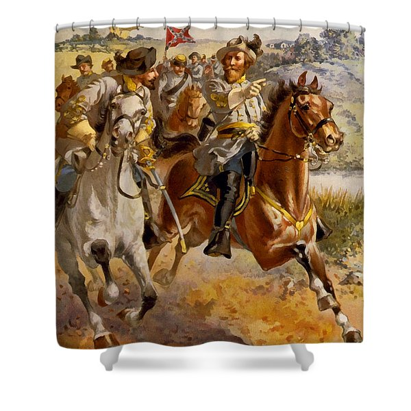 Jeb Stuart Civil War Shower Curtain by Henry Alexander Ogden