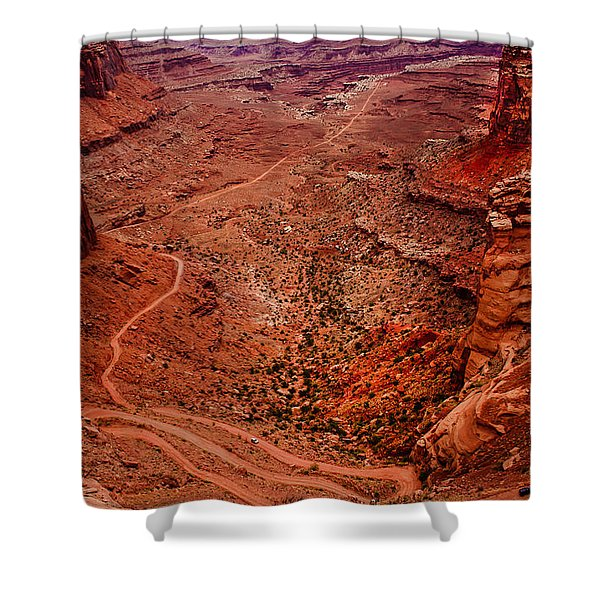 Jeep Trails Shower Curtain by Robert Bales