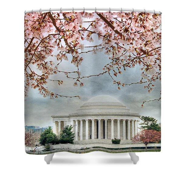 Jefferson Blossoms Shower Curtain by Lori Deiter