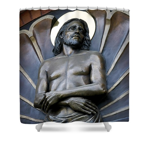 JESUS CATHEDRAL ICON -  SPOKANE WASHINGTON Shower Curtain by Daniel Hagerman