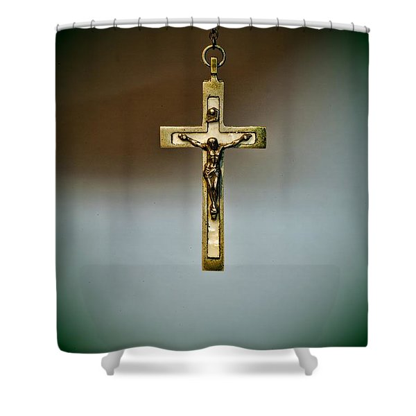 Jesus On The Cross 1 Shower Curtain by Paul Ward