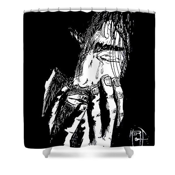 Jesus Wept Shower Curtain by Justin Moore