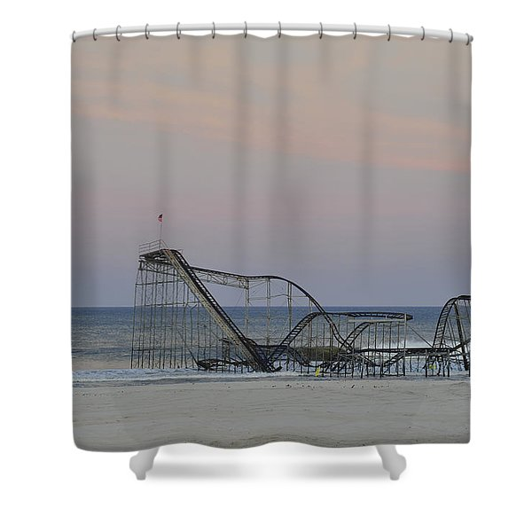 Jet Star at Dusk Shower Curtain by Terry DeLuco