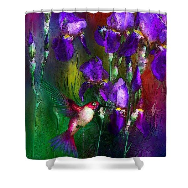 Jewels Of Summer Shower Curtain by Carol Cavalaris