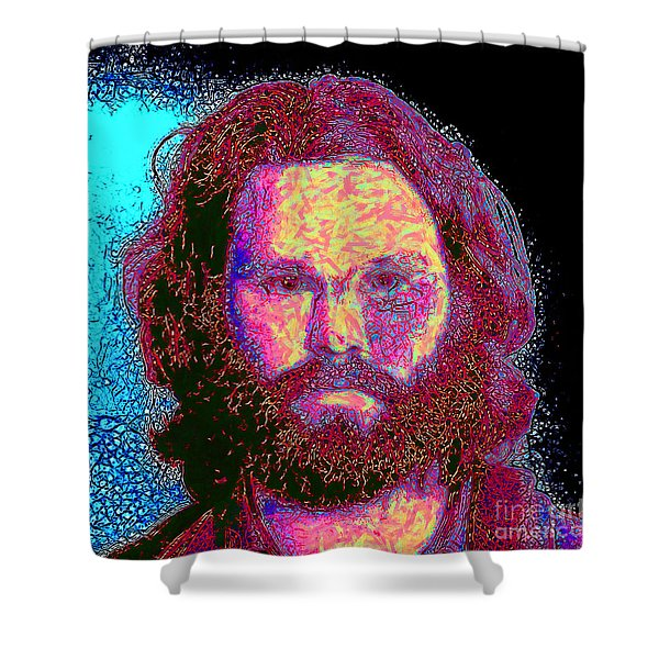 Jim Morrison 20130329 square Shower Curtain by Wingsdomain Art and Photography