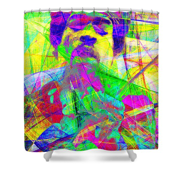 Jimi Hendrix 20130613 Shower Curtain by Wingsdomain Art and Photography