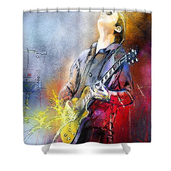 Joe Bonamassa 02 Shower Curtain by Miki De Goodaboom