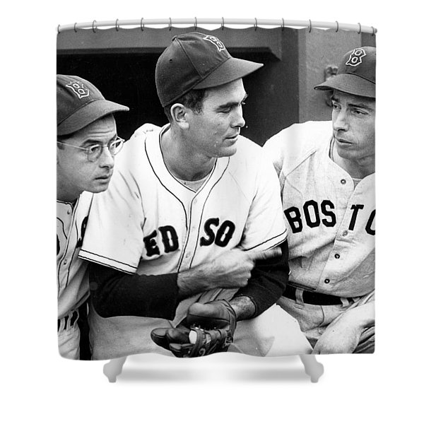 Joe DiMaggio Poster Shower Curtain by Gianfranco Weiss