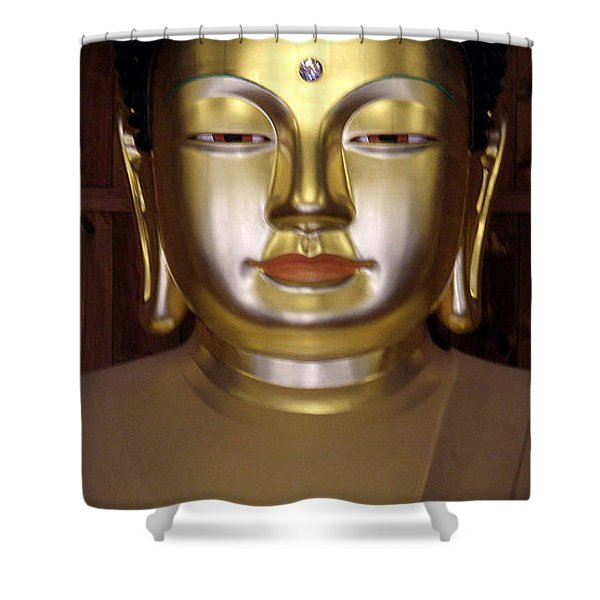 Jogyesa Buddha Shower Curtain by Jean Hall