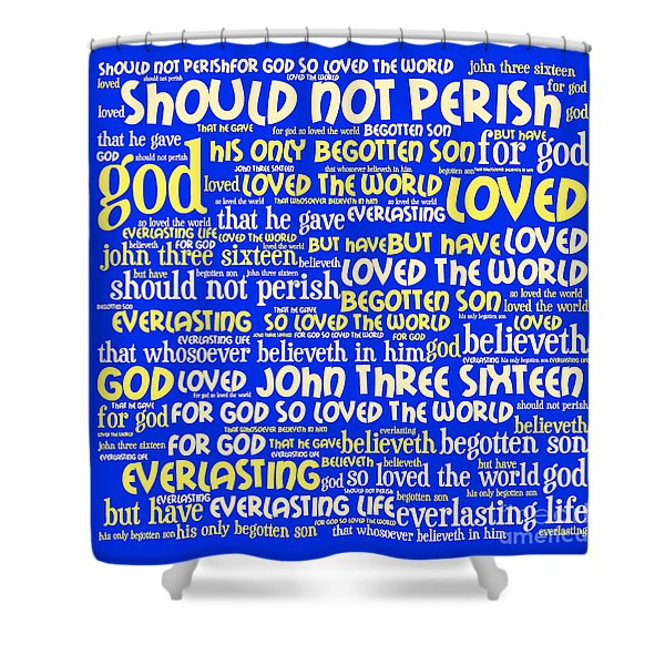 John 3-16 20130622 Shower Curtain by Wingsdomain Art and Photography