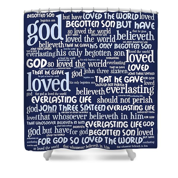 John 3-16 For God So Loved The World 20130622bwco80 Vertical Shower Curtain by Wingsdomain Art and Photography