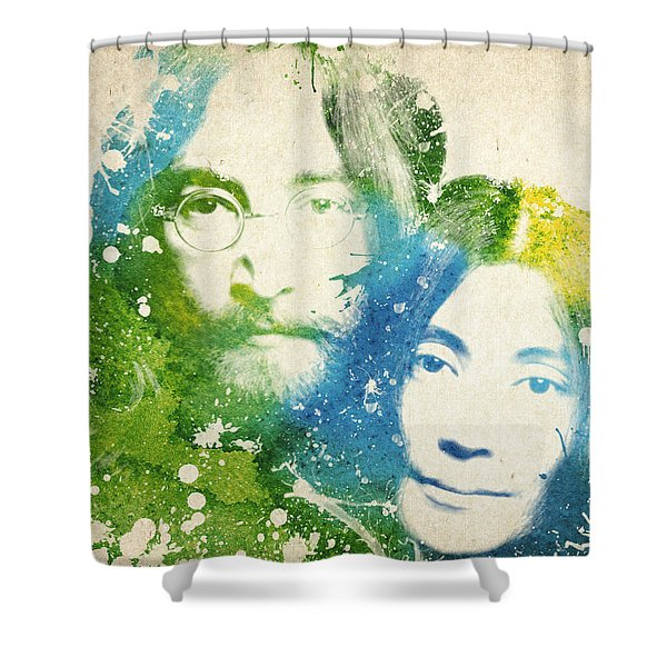 John Lennon And Yoko Ono Shower Curtain by Aged Pixel