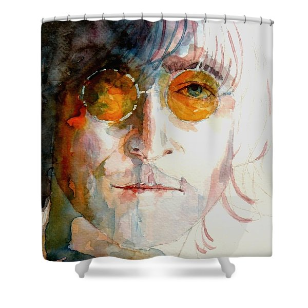John Winston Lennon Shower Curtain by Paul Lovering