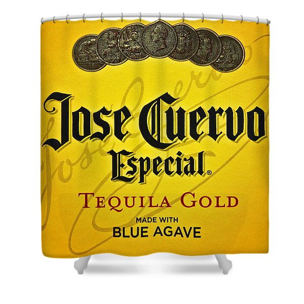 Jose Cuervo Tequila Art Shower Curtain by Frozen in Time Fine Art Photography
