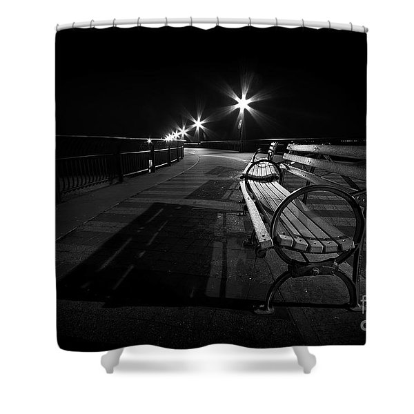 Journey Into Darkness Shower Curtain by Evelina Kremsdorf
