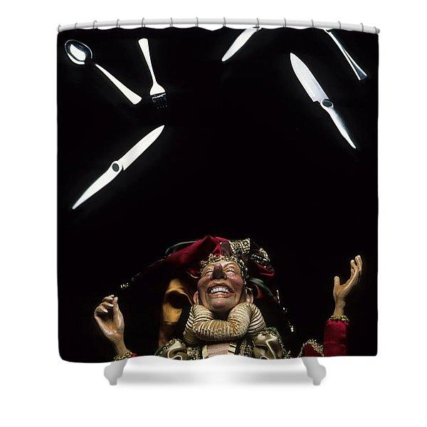 Juggling Fun Shower Curtain by Bob Christopher
