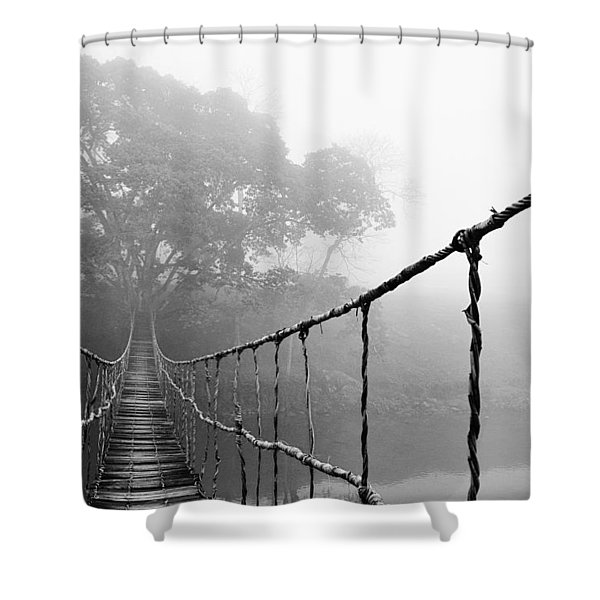 Jungle Journey 5 Shower Curtain by Skip Nall