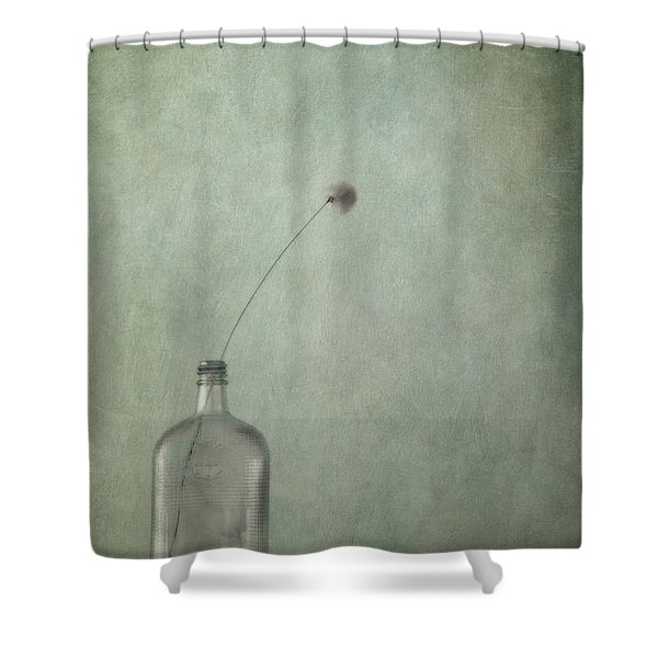 just an old bottle and its cap Shower Curtain by Priska Wettstein
