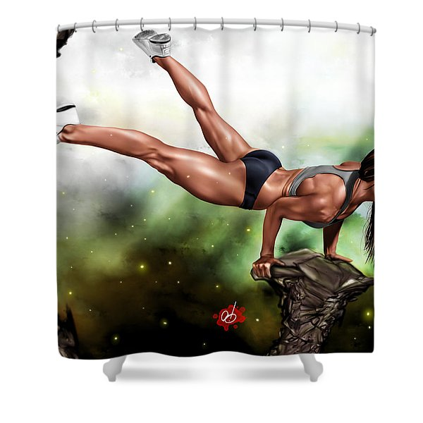 Just Because I Can Shower Curtain by Pete Tapang