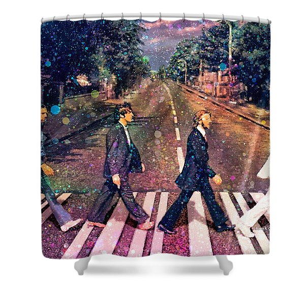 Just Crossing The Street Shower Curtain by Angela A Stanton