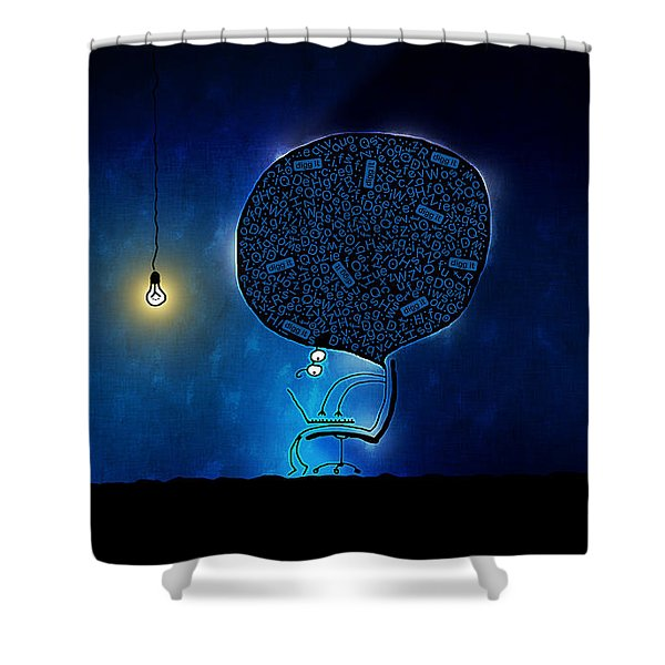 Just Digg It Shower Curtain by Gianfranco Weiss