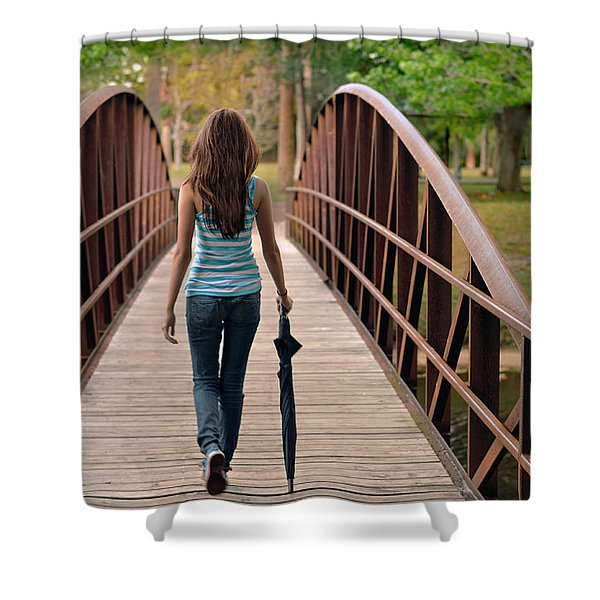 Just Walk Away Renee Shower Curtain by Laura  Fasulo