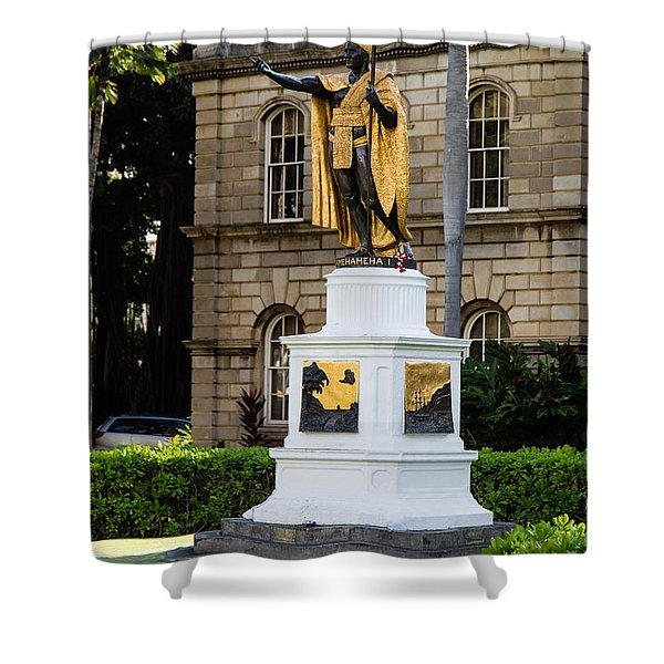 Kamehameha The Great Shower Curtain by Jon Burch Photography