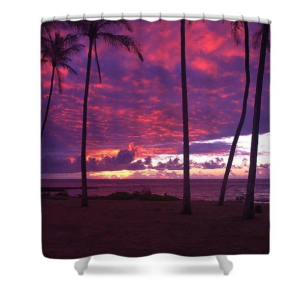 Kapaa Kauai Sunrise Shower Curtain by Brian Harig
