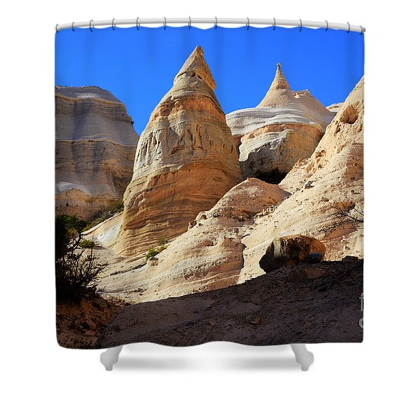 Kasha-katuwe Tent Rocks Shower Curtain by Bob Christopher