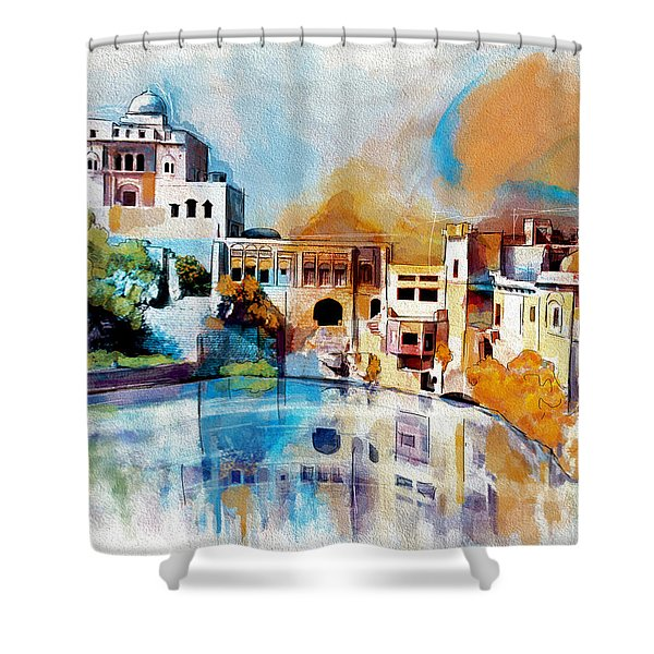 Katas Raj Temple Shower Curtain by Catf