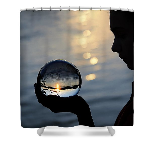 keeper of the flame Shower Curtain by Laura  Fasulo