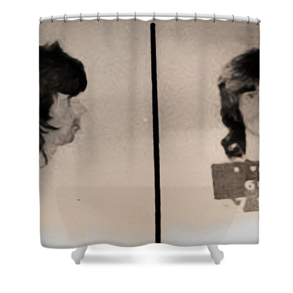 Keith Richards Mugshot - Keith Don't Go Shower Curtain by Bill Cannon